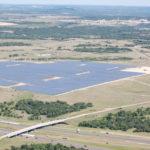 arial photo of Solar Farm