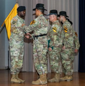 County Sheriff's Department Presents the Life Saving Award to 1st Cavalry Division Troopers